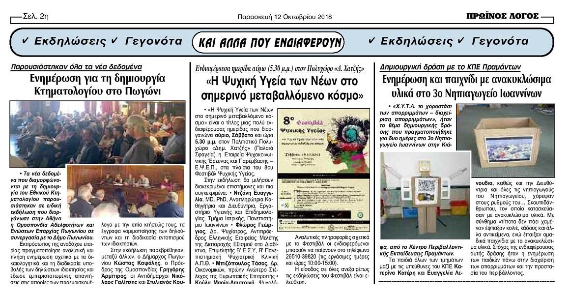Δημιουργική δράση του Κ.Π.Ε. Πραμάντων στο 3ο Νηπιαγωγείο Ιωαννίνων